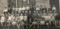 In elementary school in Hrabová