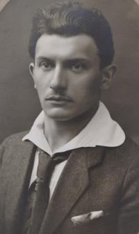 Composer Kajetán Tichý, the witness' grandfather