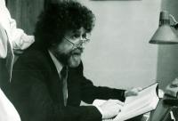 Natáčení video inscenace Havlova Pokoušení s Ivanem M. Havlem, 1988