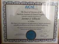 """Mr. Ulbrecht's greatest professional honor - acceptance among scientific circles in the USA. He received the title of """"fellow"""", ie a member of a learned society of the American Institute of Chemical Engineering"""