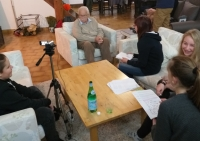 The course of filming an interview with a witness