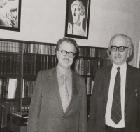 Mr. Ulbrecht in 1978 (left)