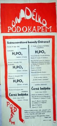 A programme of the Pod okapem Theatre / autumn 1961