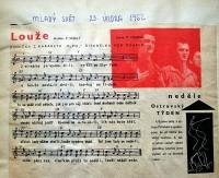 Songy by The Pod okapem Theatre / 'Mladý svět' magazine / 1962