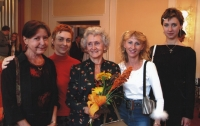 Eva Štanclová with her pupils, The daughter Eva on the left, 2003