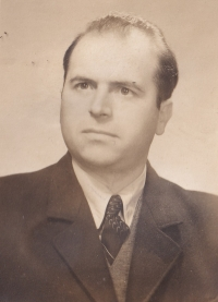 Husband Boris Hajný (1922–1996), a Volhynian Czech, in a picture from 1951