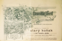 Part of an advertising poster for the production of cognac in Golič