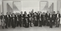 J. Kocian Chamber Orchestra Ústí nad Orlicí, 1989, Karel Štancl in the middle at the back on the right
