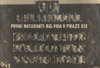 The graduation photo board, 1943