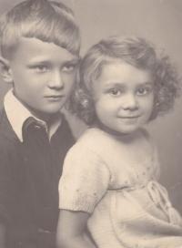 Iva with her older brother Slávek (Miroslav).