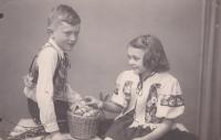 Iva and her brother Miloslav.