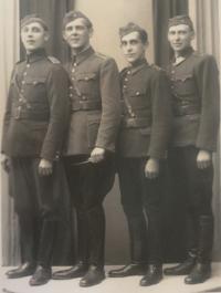 After the last bugle call. Bohuslav kořínek, far right.