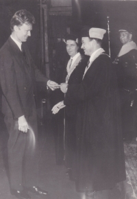 Iva's brother Miloslav's graduation ceremony. 1969