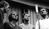 From the left: Pavel Veselý, Zuzana Majvaldová, Jarmila Rečková, Luděk Nekuda / the early 1960s / Ostrava / Černá louka