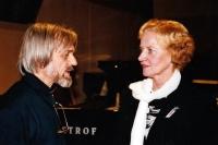 Pavel Veselý and Zdena Baronová, a radio journalist / Okap Theatre reunion / Klub Parník / 2004