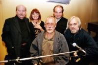 From the left Tomáš Sláma, Zuzana Majvaldová, Rudolf Březina, Edvard Schiffauer, Pavel Veselý / Klub Parník / Ostrava 2004