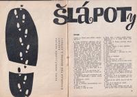 A theatre programme / 'Šlápoty' / 1963