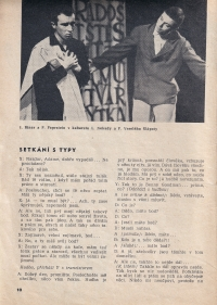 Ivan Binar (on the left) in Šlápoty cabaret performance / 1963