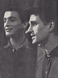 Luděk Nekuda (on the left) and Pavel Veselý / 'Kabaret pro štěstí' / 1964