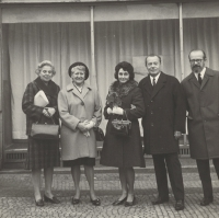 The Štancl´s, 1971, the aunt Janková on the left from Eva