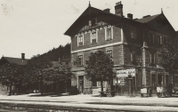 A railway station in Ústí nad Orlicí in 1930s