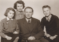 The Kořínek family in 1957, a year after father's return from prison.