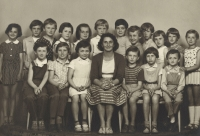 With the fifth year girls class,1961