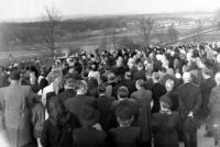 Pohřeb Bohuše Bárty v dubnu 1953