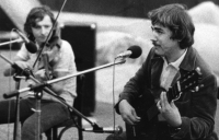 During a concert with the violinist Jan Hrubý, early 1980
