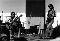 During a concert with Emil Pospíšil, early 1980