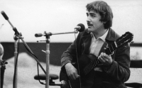 During a concert at the folk festival in Pezinok, late 1970s