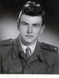 Albín Jankulík as a soldier