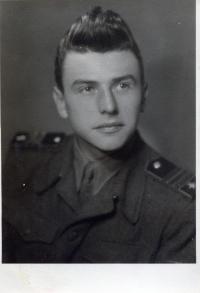 Albín Jankulík in the army