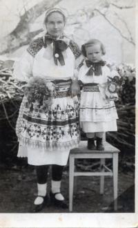 Eva Jankulíková, nee Korbeľová, mother of Albín Jankulík