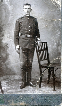 Albin's great-grandfather on his mother's side, lt. Korbel. He fell in the Balkans during WWI. He came from Zliechov