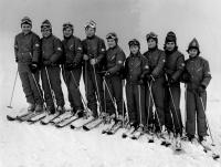 Olga Charvátová with a  cross-country skiing team, 1972