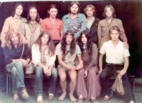 Alik Olisevych (sitting third from left) with his wife Kateryna (sitting fourth from left), Lviv, 1983