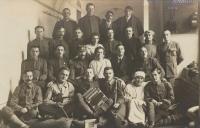 Antonín Špika, far right. 1920