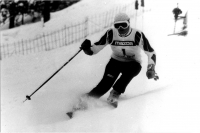 Olga Charvátová at a competition in 1985/86