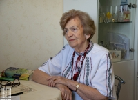 Rostyslava Fedak during an interview (August 6, 2020, Lviv, Ukraine)