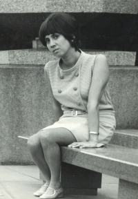 Eva as a medical student, Prague 1970