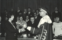 Eva's graduation at the Medical Faculty of Charles University, Prague 1971