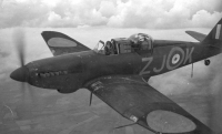 Uncle Vlastimil Veselý in a Boulton Paul Defiant airplane