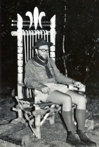 In 1970 at Scout camp