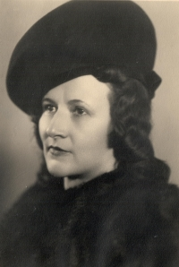Her mother Marie Bubílková, probably before the WWII