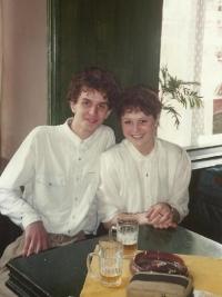 Daughter and his son Dan