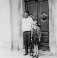Jaroslav Veselý with his sister as a boy
