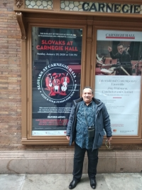 Slovak evening at Carnegie Hall, New York, in January 2020.