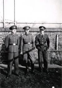 Uncle Erazim Veselý, father Jaroslav Veselý, and uncle Vlastimil Veselý (from the left)