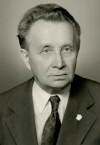 Her father Vojtěch Bubílek, probably 1970s